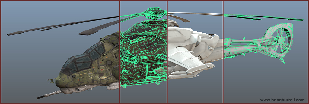 Brian Burrell - Tutorials-Workflow - Vehicle Mi27R Helicopter